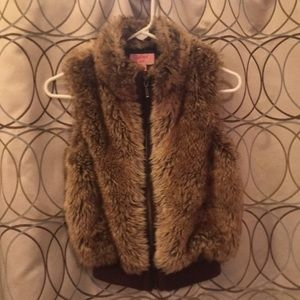 Copper Key Faux Fur Vest